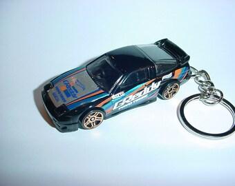 3D Nissan Silvia 240SX Custom Keychain By Brian Thornton Keyring Key Chain  Finished In Greddy Black