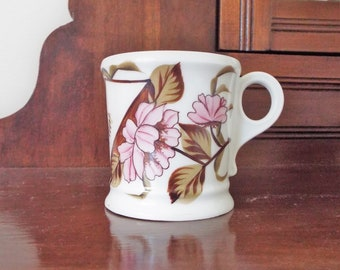 Antique Shaving Mug Mustache Cup Victorian Hand Painted Floral Tea Cup