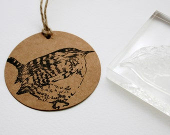 Wren - Rubber Stamp - Bird Stamp - Clear Stamp - Wren Rubber Stamp - Little Stamp Store - Photopolymer - Sticky Stamp - Rubber Stamp Shop