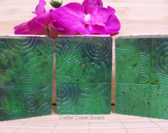 Eucalyptus Spearmint Soap Scrub Soap with Real Eucalyptus and Spearmint in the Soap