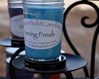 Spring Fresh Candle: Hand Poured Soy-Paraffin Triple Scented