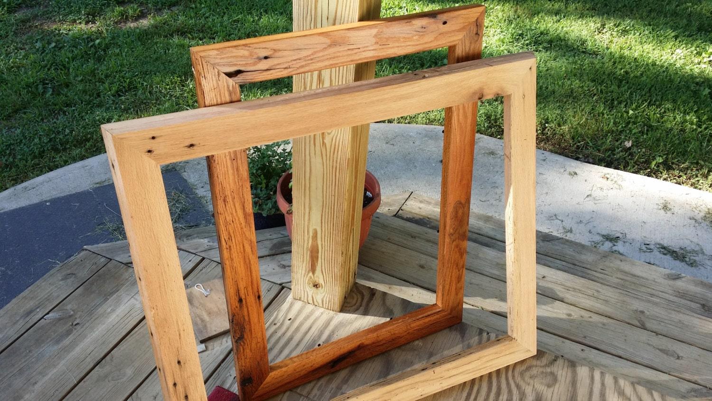 Medida grandes y de gran tamaño reclamados marcos de madera