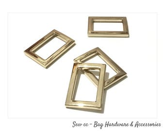 20mm Rectangle Rings - Light Gold (PACK OF 2) - Rectangle rings - Sew cc bag hardware & accessories