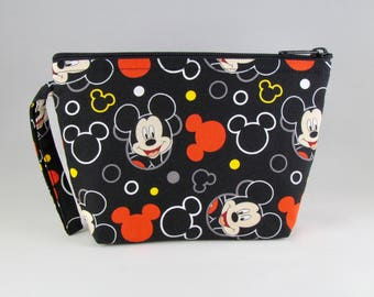 Mickey Mouse Heads Makeup Bag - Accessory - Cosmetic Bag - Pouch - Toiletry Bag - Gift