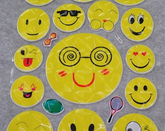 Cute Bling Smiley Face Stickers