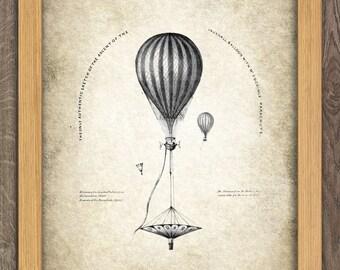 Air Balloon Print - Vintage Aeronautica Illustration - Balloon Art - Digital Art - Printable Art - Digital Print #11 - INSTANT DOWNLOAD