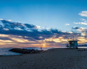 Venice Beach Sunset,Venice Beach Photos, Instant Download