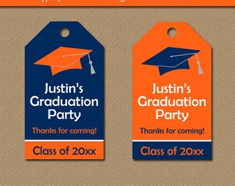 Graduation Tags, Printable Graduation Hang Tags, High School Graduation Gift Tags, College Graduation Thank You Tags, Editable Favor Tags G1