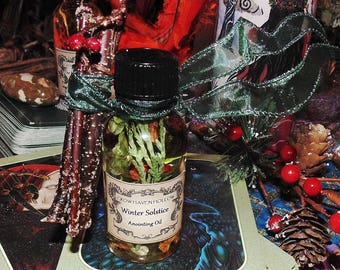 Winter Solstice Anointing Oil, Winter Solstice Oil, Yule Oil, Yule Anointing Oil, Ritual Oil, Annointing Oil, Herbal Oil, Witchcraft