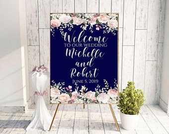 Large welcome sign, welcome to our, printable wedding, ceremony sign, marriage decor, marriage sign, welcome sign print, our wedding A103