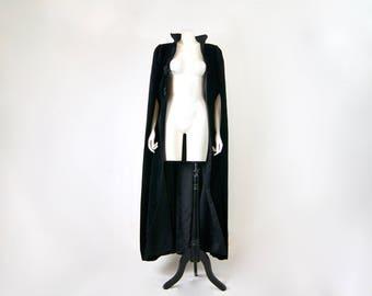 DAVID BUTLER CHATRIVER Vintage 1960s Full Length Velvet Cape Winter Coat