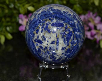 Lapis Lazuli Sphere 74 MM, Sphere Stand Included