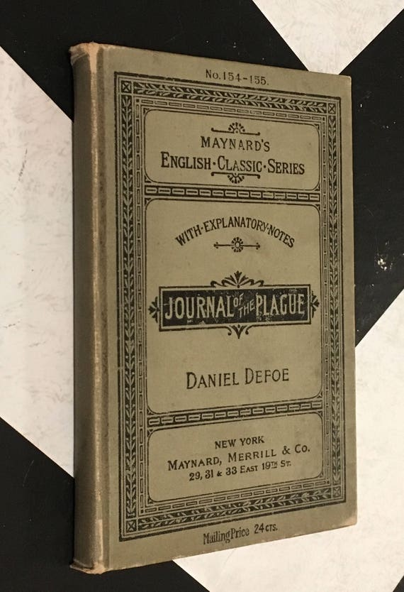 The Plague in London by Daniel Defoe with Introduction and Notes vintage antiquarian gray black book (Hardcover, 1895)