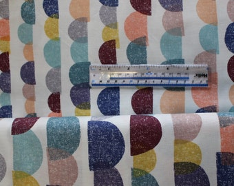 """Multi coloured graduated semi-circles """"Life's Journey"""" by Dashwood. 100% Cotton Patchwork and Quilting Fabric"""