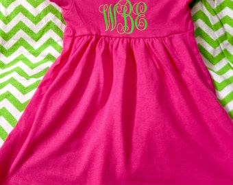 Monogram Baby Girl Dress