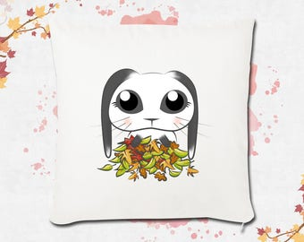 White Cute Bunny pillow cover