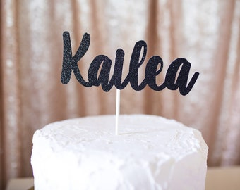 Name Cake Topper...Birthday Girl Cake Topper...Party Decorations...Personalized Cake Topper...First Birthday Party Decorations..1st Birthday
