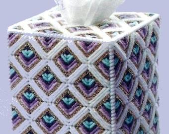 GOLDEN DIAMOND -  Beautiful Boutique Size Tissue Box Cover