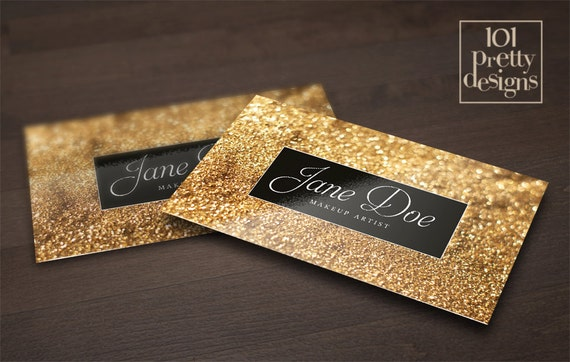 Gold Glitter Business Card Template Makeup Artist Business - Makeup artist business card template