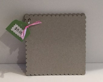 Scalloped 6 X 6 Naked Chipboard Album