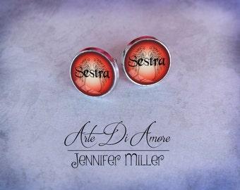 Sestra Stud or Dangle Earrings