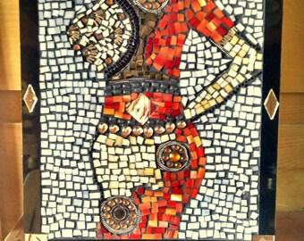 Mosaic, Woman Mosaic, Ethnic Woman Mosaic, Woman Figure Mosaic