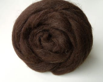 25g wool felting or spinning color Brown Merino from Spain