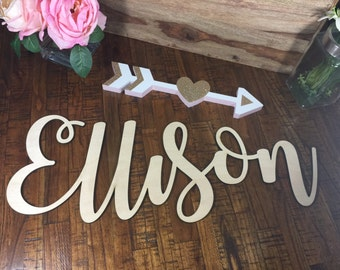 Sale Wooden Name Sign, Nursery Name, Baby Name Cut out, Cutout Name, Wood Name Sign, Wooden Baby Name, Kids name, Nursery Wooden Name, Big