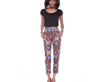 African Print Trousers, African Wax Print Pants, Ankara print pant, Womens trousers, patterned trousers, African fashion