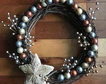 Golden Days of Yore- Christmas Wreaths- Wreath