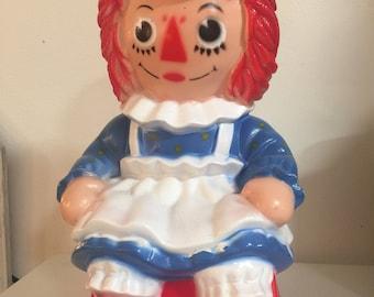 Vintage 1972 Raggedy Ann doll Piggy Bank