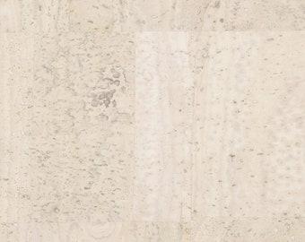 Natural Cork Fabric, Cork Leather, Creamy White - Stitchable Cork, Vegan Leather Alternative - Elite Premium Natural cork