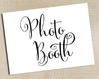 Photo Booth Sign, Wedding Sign, Rustic Wedding, Wedding Sign, Photo Booth Printable, Photo Booth Table Sign