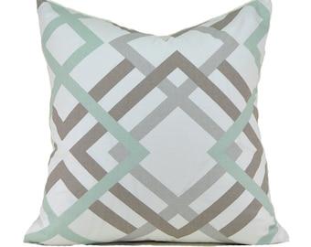 Pillow Covers ANY SIZE Decorative Pillow Cover Robins Egg Blue Pillow Premier Prints Winston Artichoke