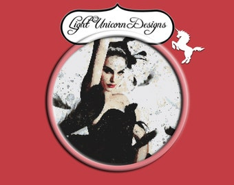 Black Swan Ballerina Cross Stitch Pattern
