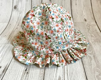 Toddler Sunhat - Floral Hat for Babies - Baby Girl Hat - Floral Hat - Floral Sun Hat - New Baby Gift - First birthday Outfit - Girls Hat