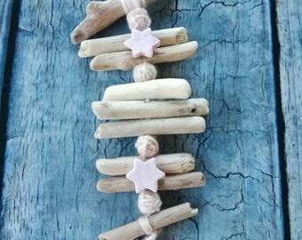 Baby shower gift , salt dough ornaments,  little stars, pink ornament, wall hanging decor, little things, nursery decor, handmade