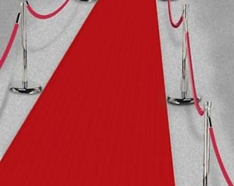 DELUXE Fabric Hollywood Red Carpet Floor Runner/ Hollywood Party/Oscar Ceremony Party/Red Floor Runner/Red Carpet