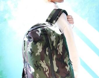 Mens Laptop Rucksack,Canvas men rucksack,Waxed bag for men,Canvas Backpack for him,Waxed bag for men,Hiking Travel Rucksack,Men backpack