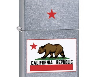 Zippo Lighter: California State Flag