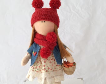 Rug doll. Fabric doll. Cloth doll. Art doll. Handmade doll