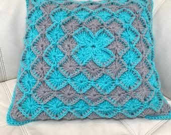 Wool-eater crochet cushion