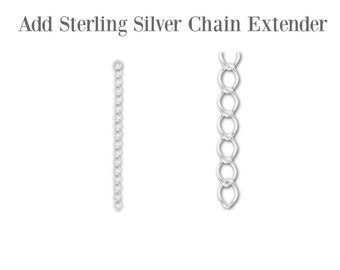 Add Sterling Silver Chain Extender - Long Necklace Chain - Sterling Silver Chain - Choose Your Length