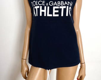 Blue sleeveless Hoodie DOLCE & GABBANA Athletic size S