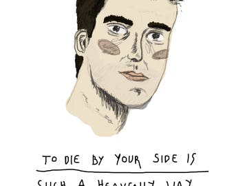 A5 Morrissey Print with Quote