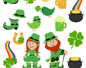 St Patrick's Day Clipart Clip Art, St Patricks Clipart Clip Art - Commercial and Personal Use