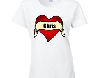 Name Heart Tee T Shirt