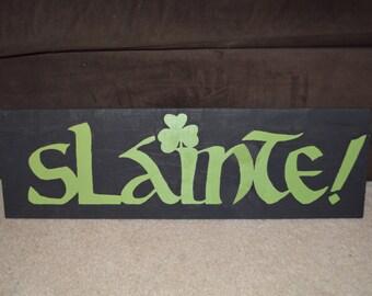 slainte, Irish, Ireland, wall art, wall decor, home decor