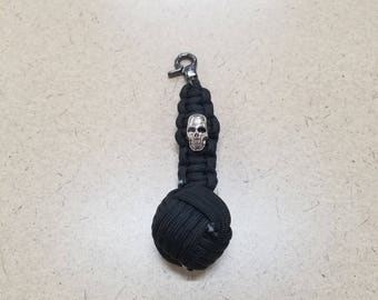 Black monkeys fist key chain