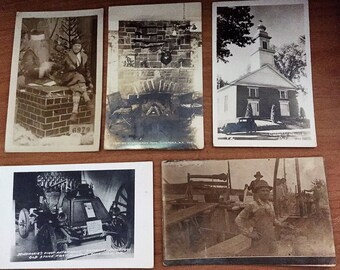Lot of 15 Antique to Postcards